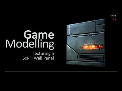 ▶ Texturing a Sci-Fi Wall Panel with Adobe Photoshop (Autodesk Maya) - YouTube