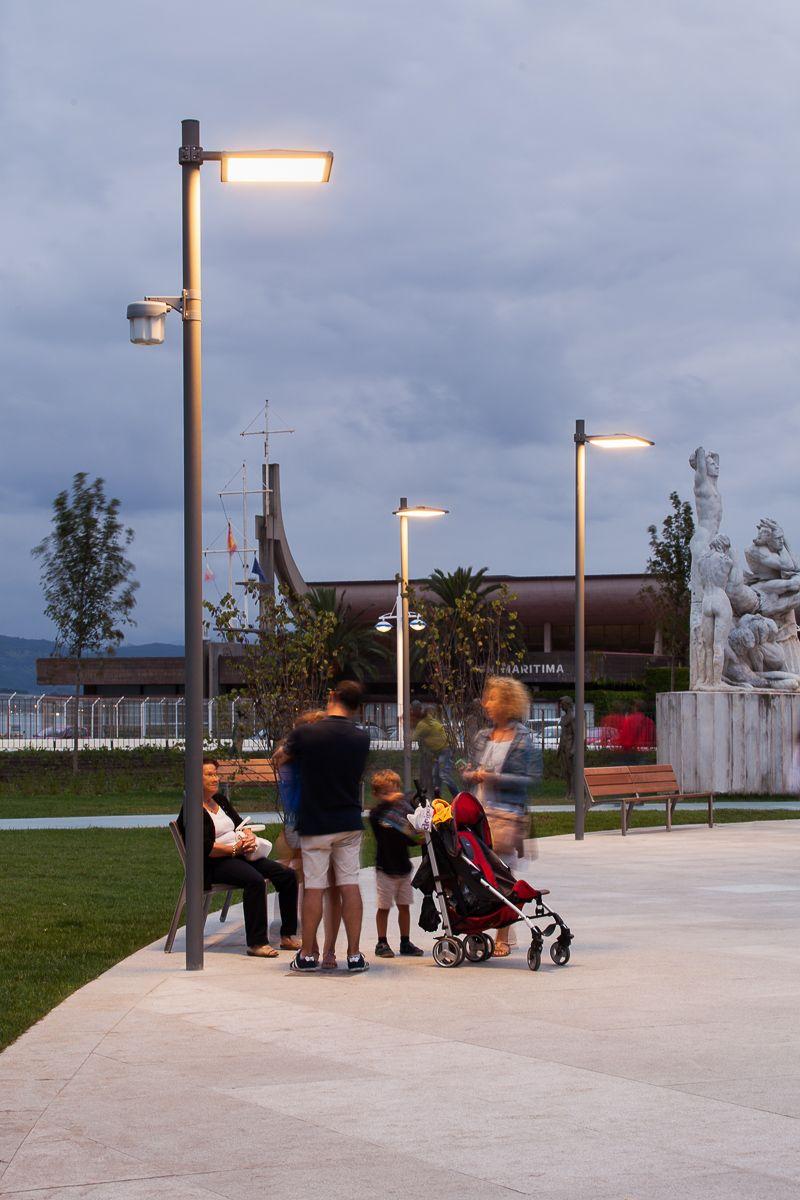 Jardines de Pereda, Fundatiòn Botin in Santander, Spain - Landscape architect: Fernando Caruncho - Architectural design: Renzo Piano - Lighting products: iGuzzini illuminazione #iGuzzini #Lighting #Light #Luce #Lumière #Licht #Urban #Santander