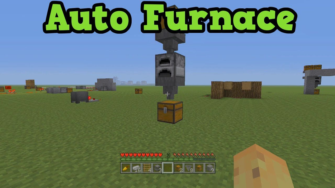 Minecraft Xbox 360 + PS3 Automatic Furnace Tutorial ...