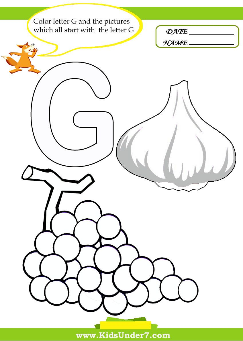 worksheet Letter G Worksheets For Preschoolers grapes and garlic letter g pinterest worksheets coloring pages