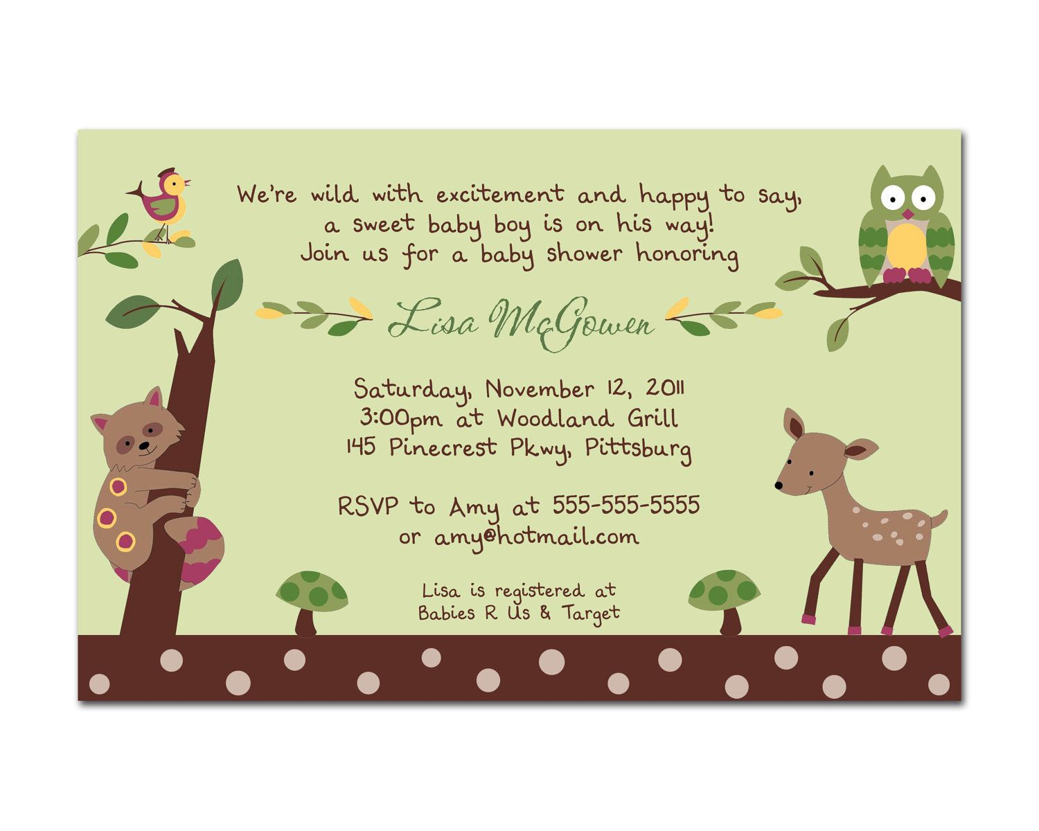 Lambs and ivy enchanted forest neutral digital baby shower lambs and ivy enchanted forest neutral digital baby shower invitation you print green filmwisefo Images