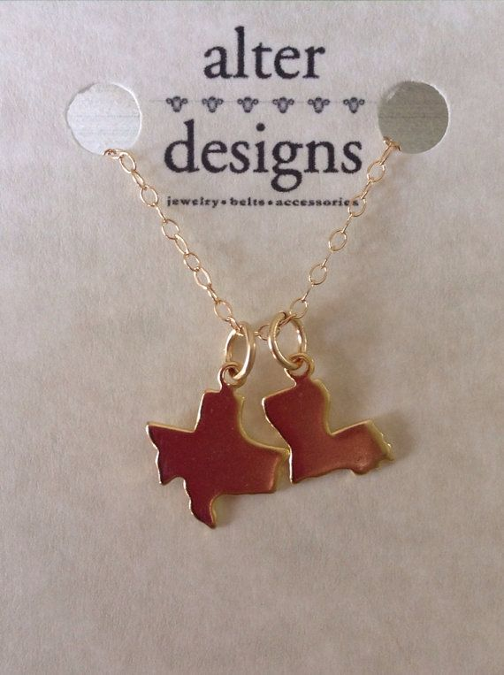 Two state necklace 2 charm necklace best friend long distance two state necklace 2 charm necklace blank by alterdesigns on etsy 3300 aloadofball Images