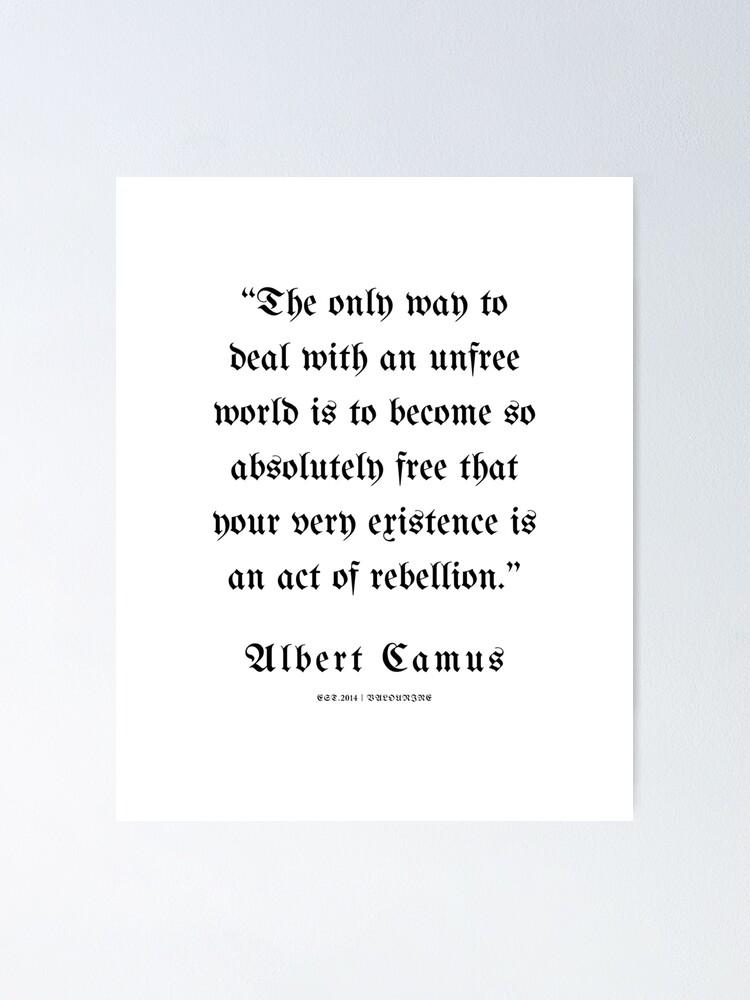 20  | Albert Camus Quotes | 210303 | Poster by QuotesGalore