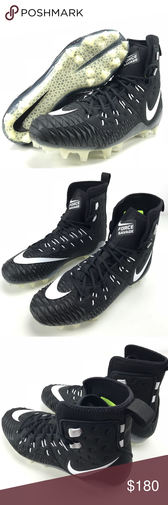 buy online fa05b 2ad43 Nike Football Cleats Men s Force Savage Elite TD Nike Football Cleats Men s  Force Savage Elite TD Black White 857063 Brand new, ships without original  box ...