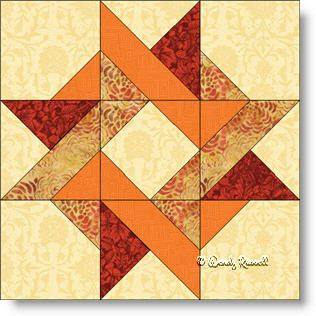 Entwined Star quilt block image Wendy Russell