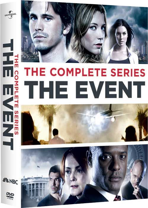 ••The Event•• (TV S1 E22 2010 Sep 20 - 2011 May 23 NBC) • dvd • series should never have been canceled • synopsis: When man goes looking for his missing girlfriend, he stumbles upon gov conspiracy bigger than the pres. • creator: Nick Wautersstars • stars: Jason Ritter as Sean Walker / Sarah Roemer as Leila Buchanan / Zeljko Ivanek as Blake Sterling / Laura Innes as Sophia Maguire / Hal Holbrook as James Dempsey / Blair Underwood as pres. Elias Martinez / Clifton Collins Jr. as Thomas etc