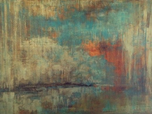 Landscape through patina of time   by Kaileen Burke