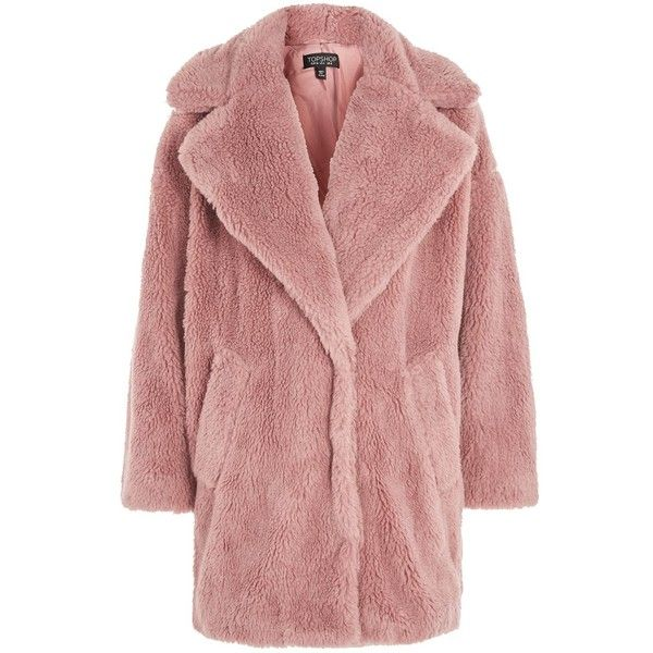 thoughts on new styles ever popular TopShop Borg Cocoon Coat (2.030.700 IDR) ❤ liked on Polyvore ...
