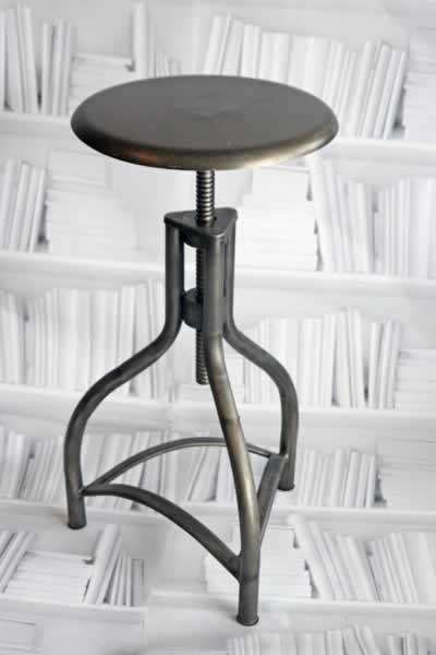 Superb Metal Adjustable Swivel Bar Stool