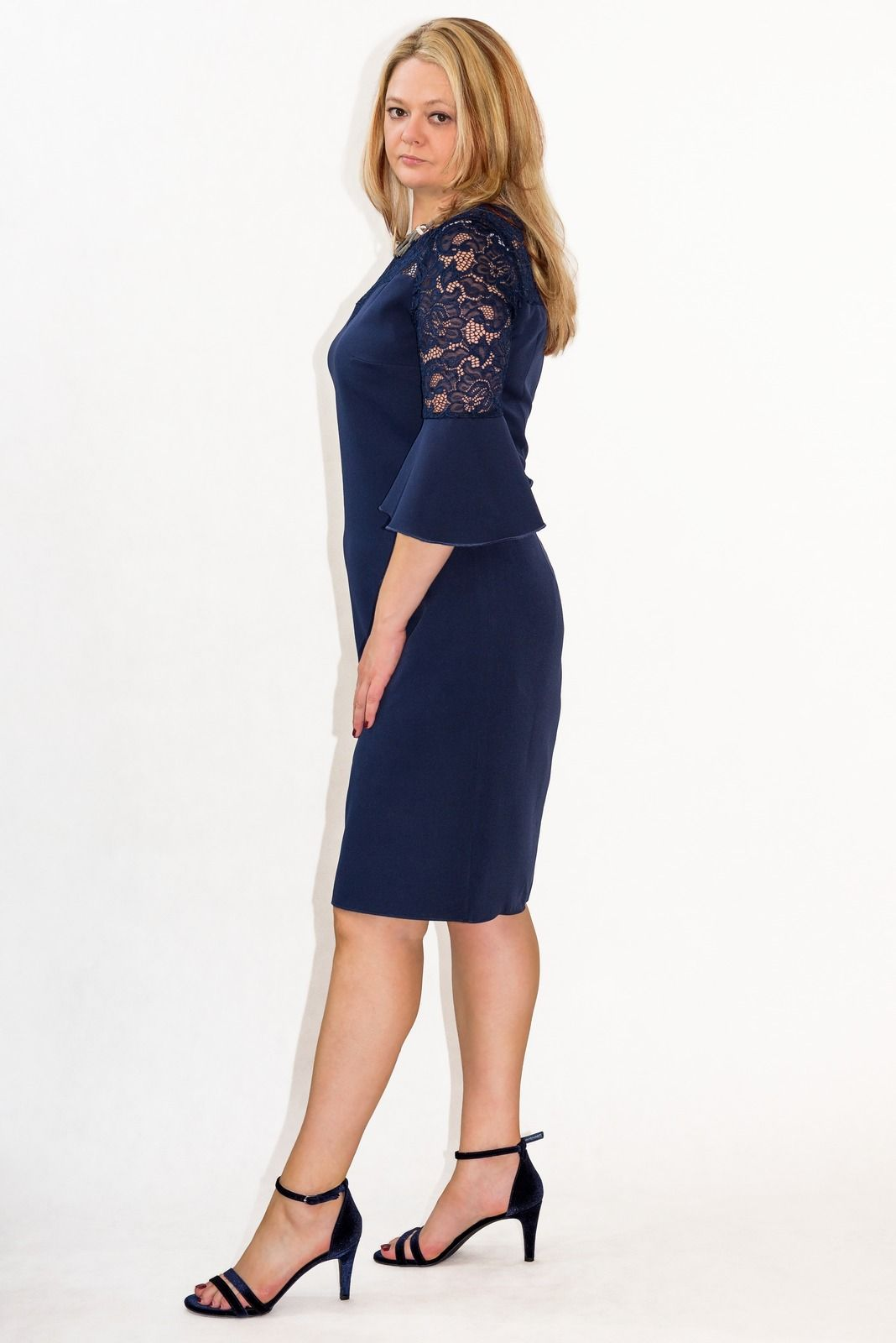 b1f5c739e9 Elegancka sukienka XXL 40-60 na wesele PAOLA duże rozmiary - XELKA ...