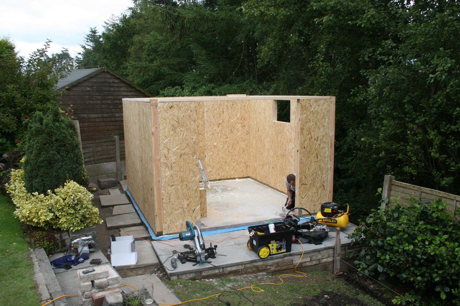 Insulated garden studio office room self build sip kit for Sips garden buildings