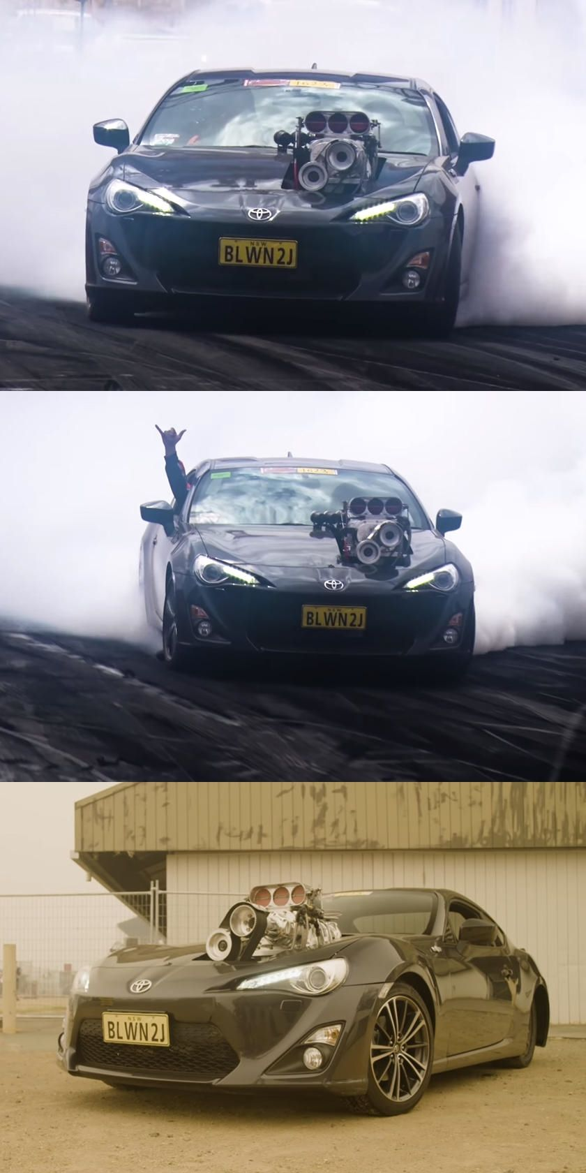 Toyota 86 With Supercharged 2JZ Burns Some Serious Rubber