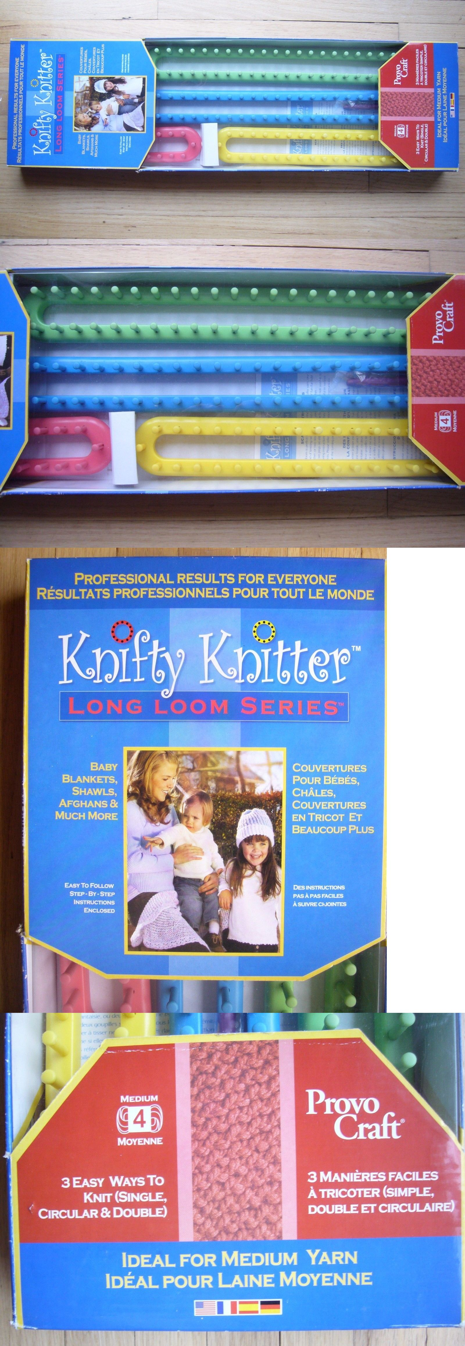 Knitting Boards And Looms 113343 New Ib Provo Craft Knifty Knitter