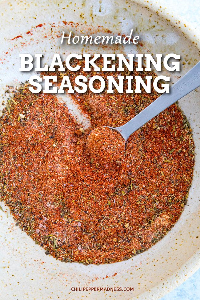 Homemade Blackening Seasoning