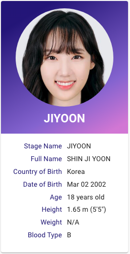 Shin Jiyoon Weeekly Profile Kpop Profiles Facts Profile