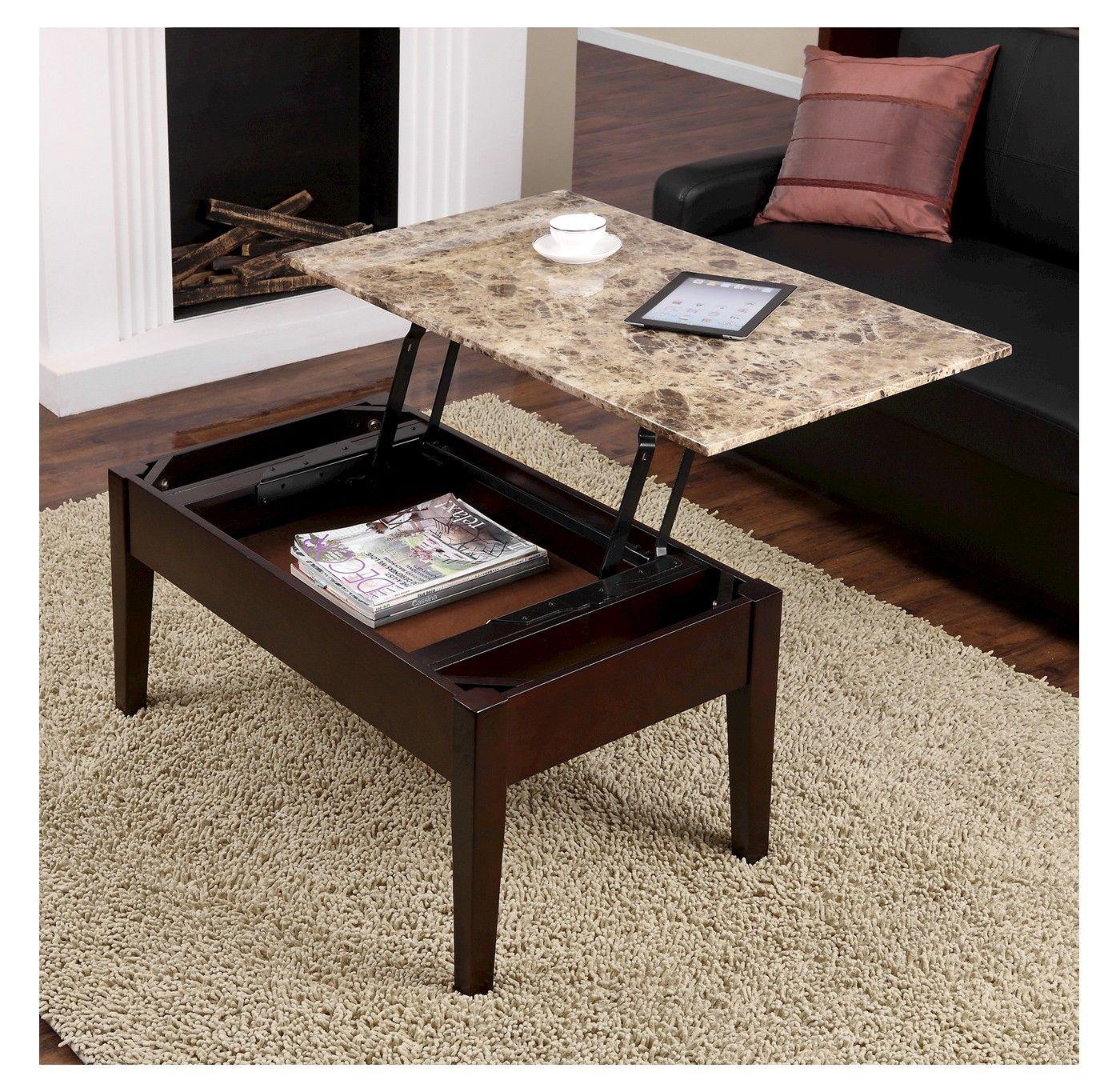 Dorel faux marble lift top table brown dorel living