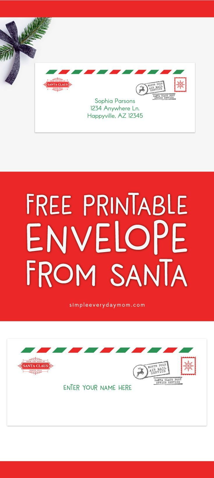 Adorable image pertaining to free printable letters from santa north pole