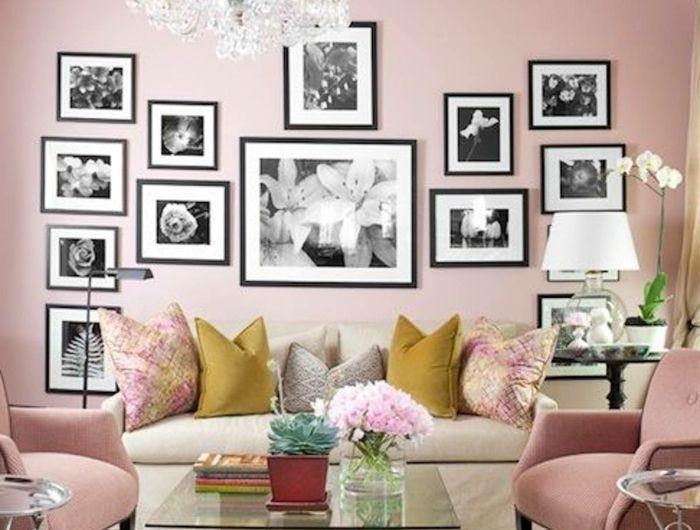 Welche Farbe Passt Zu Rosa, Eine Menge Schwarz Weiße Bilder Von Blumen,  Rosa Sessel