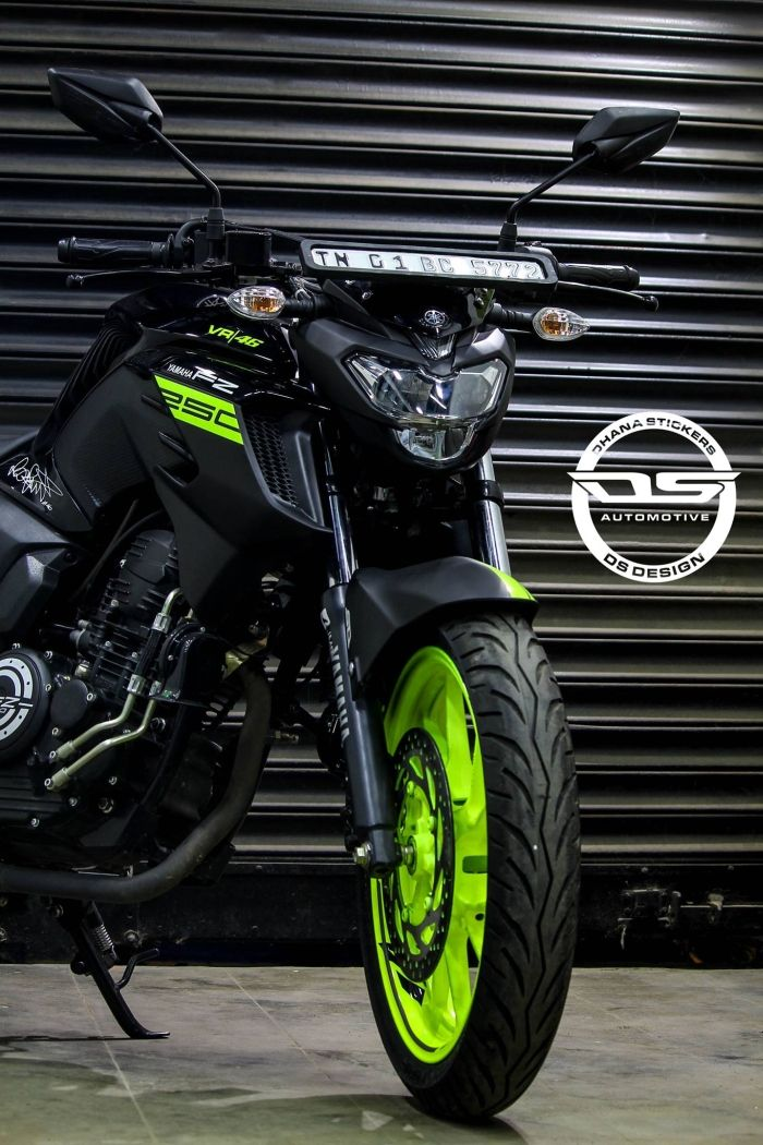Yamaha Fz25 Vr46 Edition By Ds Design Chennai In 2020 Fz Bike