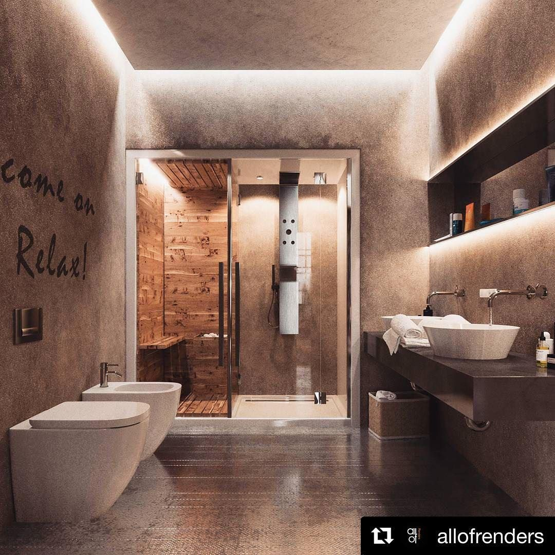 Awesome Bathroom By Allofrenders Tag Friends Who Would Like It Allofrenders Allofarchitecture Scandin Amazing Bathrooms Backyard Night Bathroom Decor
