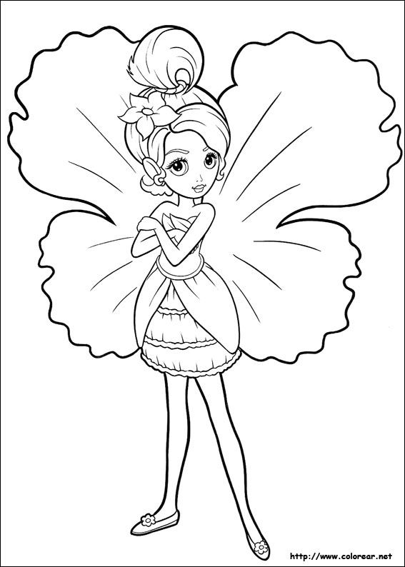 She was Barbie Thumbelina coloring pages which always appear cute ...