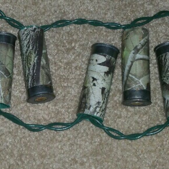 Camo LED patio lights Shotgun shell patio lights 20 LED lights realtree camo plug in cord Realtree  Other