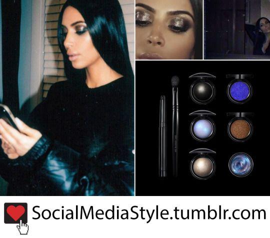Kim Kardashians Pat McGrath Dark Star 006 Eye Makeup