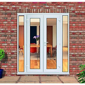 Wickes upvc french doors 7ft with 2 demi panels 300mm for Upvc balcony doors