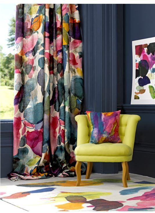 Colour Palette Curtains Living Room Bright Curtains Curtain Designs #summer #living #room #curtains