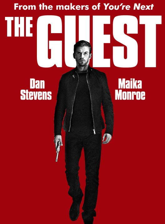 Primary poster fromThe Guest(2014). September 17 - A soldier (Dan Stevens) introduces himself to the Peterson family, claiming to be a friend of their son who died in action. After the young man is welcomed into their home, a series of accidental deaths seem to be connected to his presence.