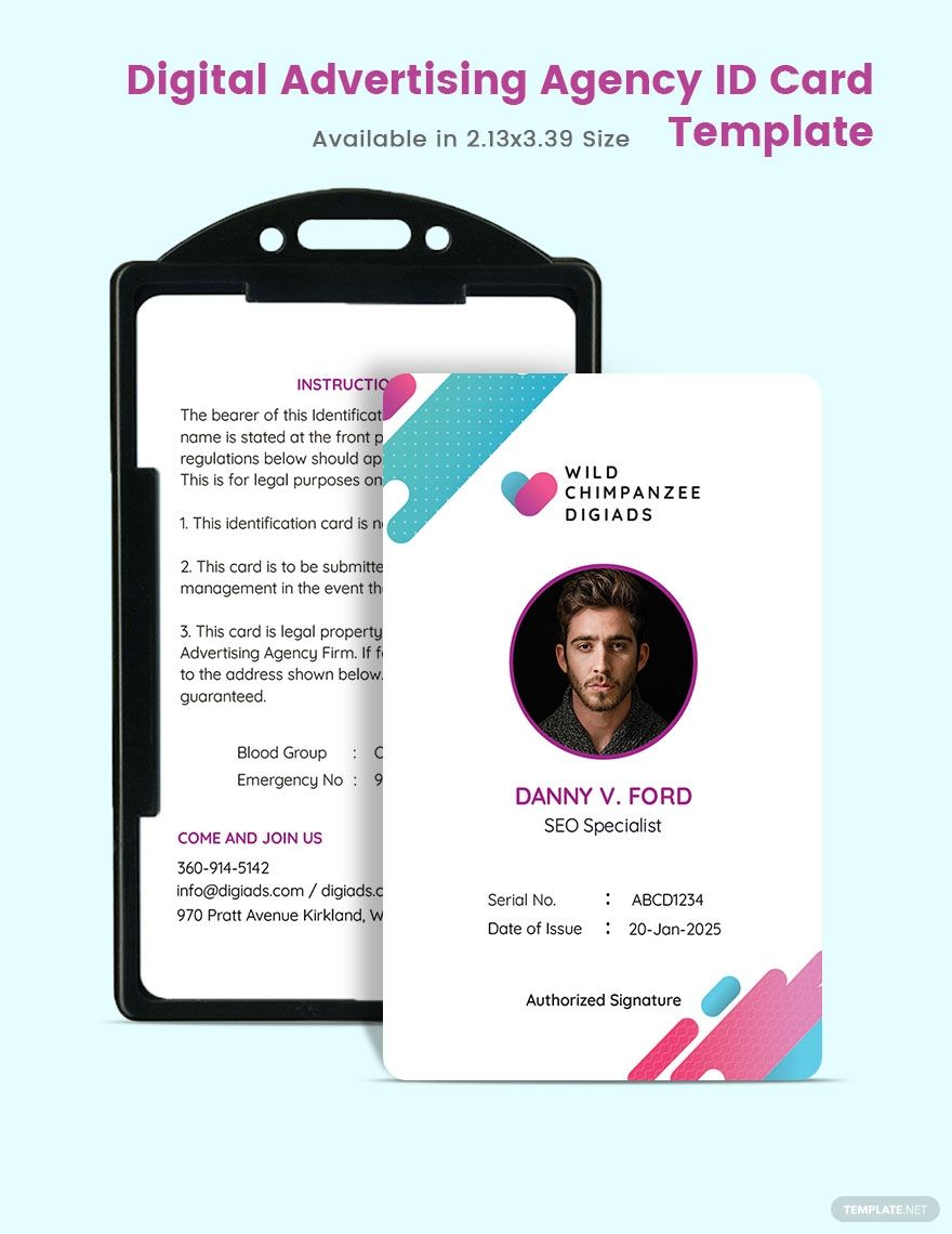 Digital Advertising Agency Id Card Template Word Doc Psd Indesign Apple Mac Pages Illustrator Publisher Digital Advertising Agency Digital Business Card Digital Advertising