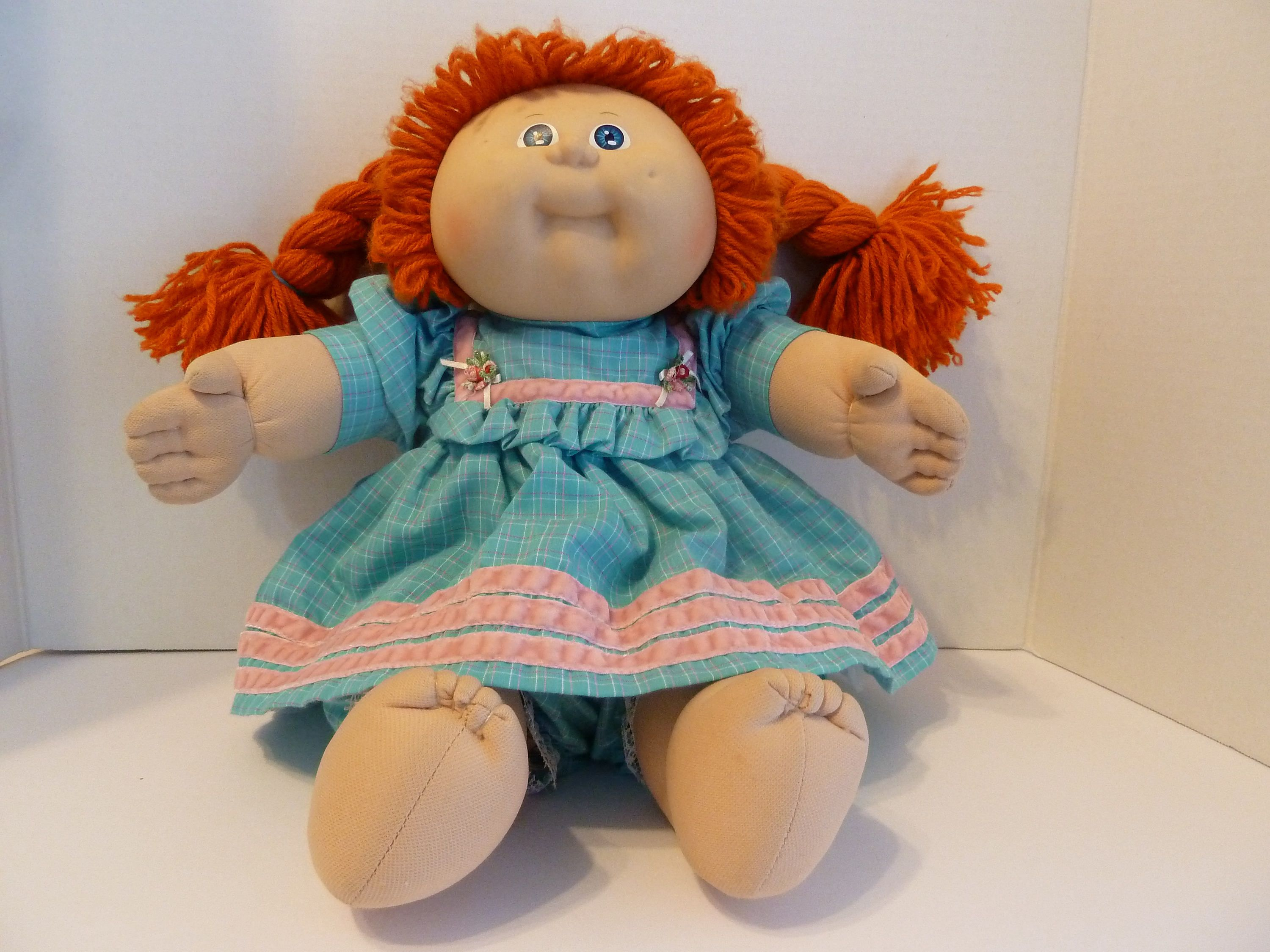 Cabbage Patch Girl Braided Red Hair Blue Eyes 1985 Circa Original Clothes Diaper By Bjsdodads On Etsy Girls With Red Hair Bright Blue Dresses Red Hair