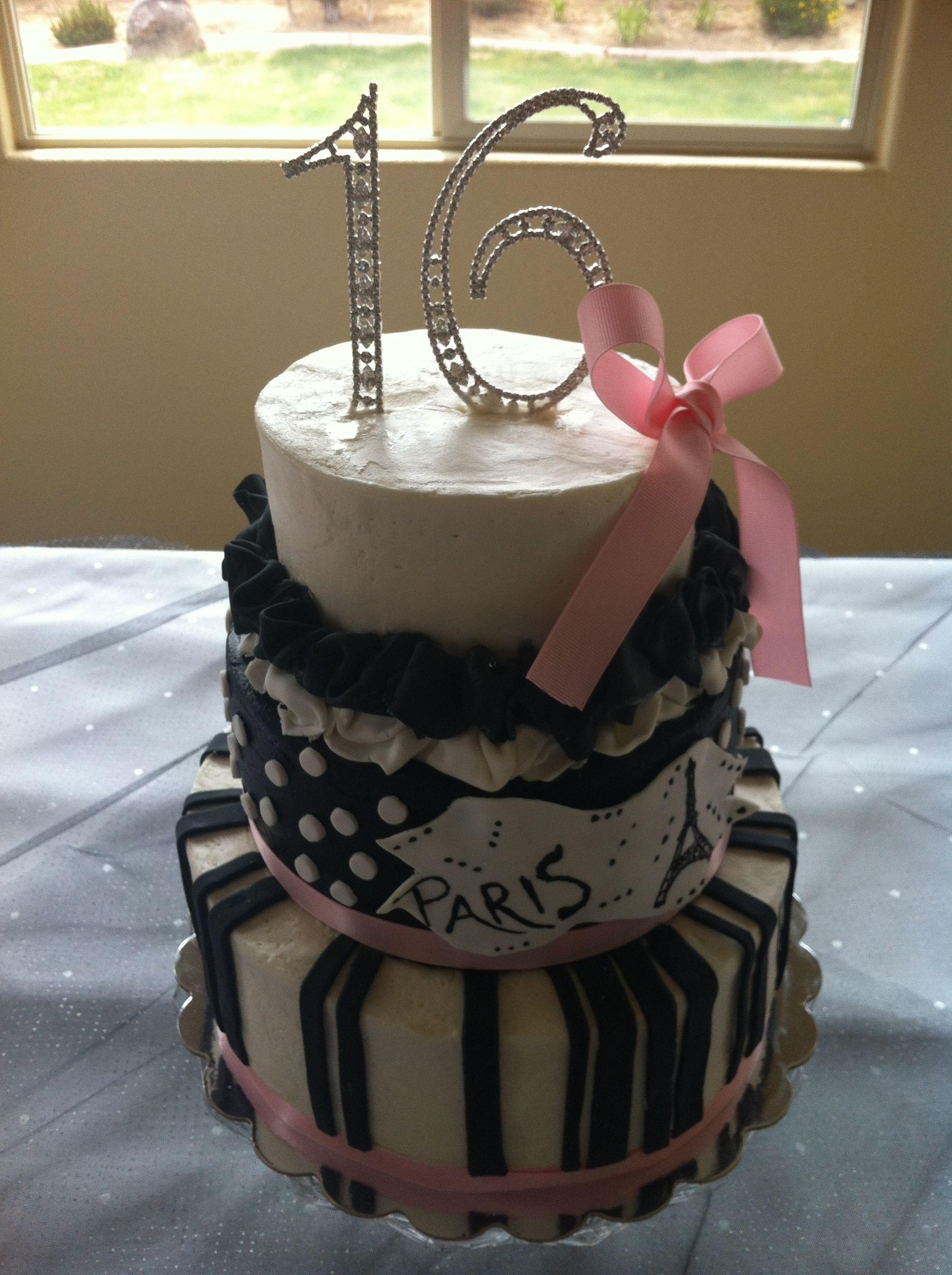 Fantastic Sweet 16 Cake Cake By Tiers Of Joy Wedding Cake In Reno Nv Birthday Cards Printable Opercafe Filternl