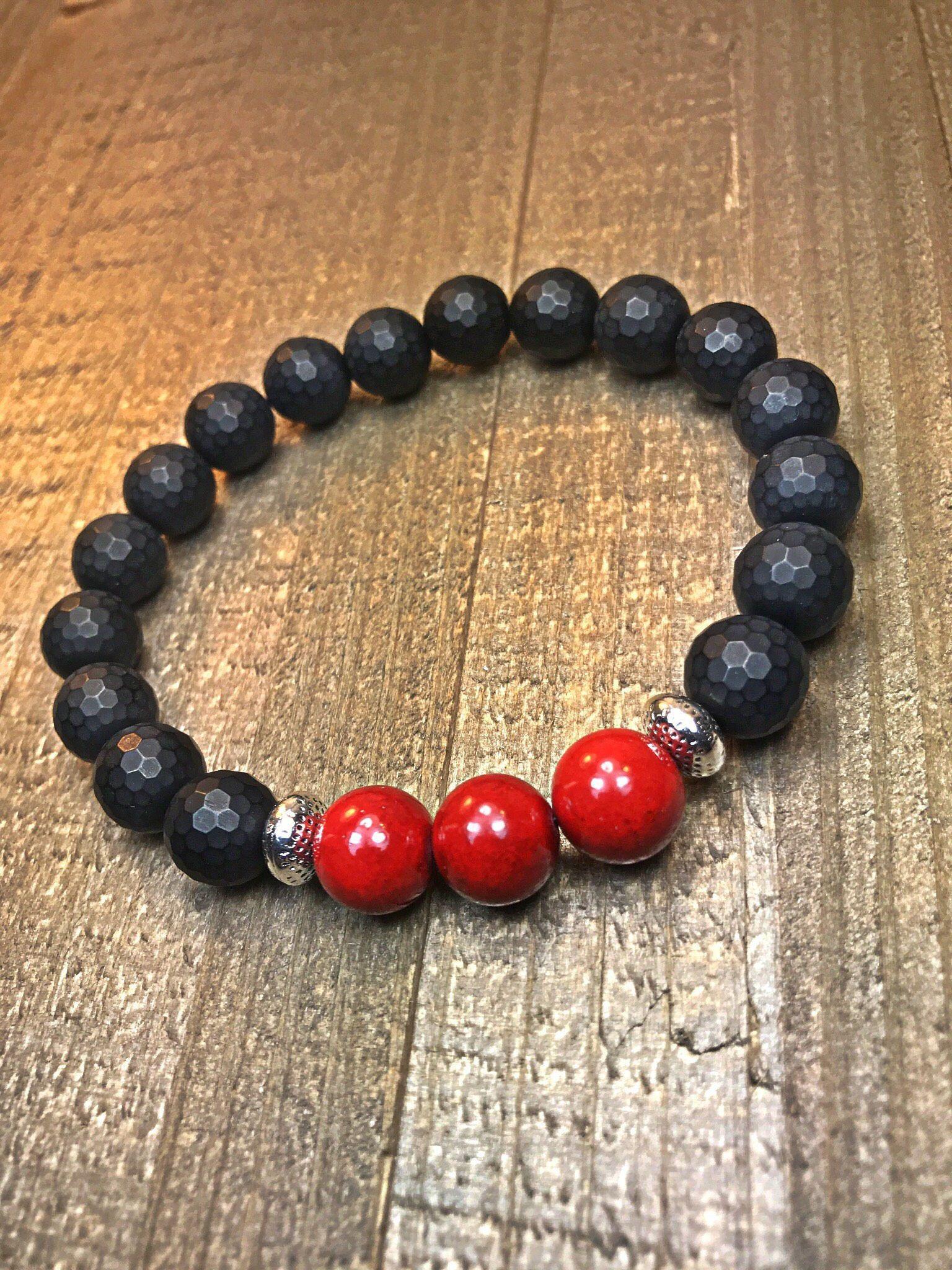 Menus beaded bracelet mens bracelet beaded bracelet stretch