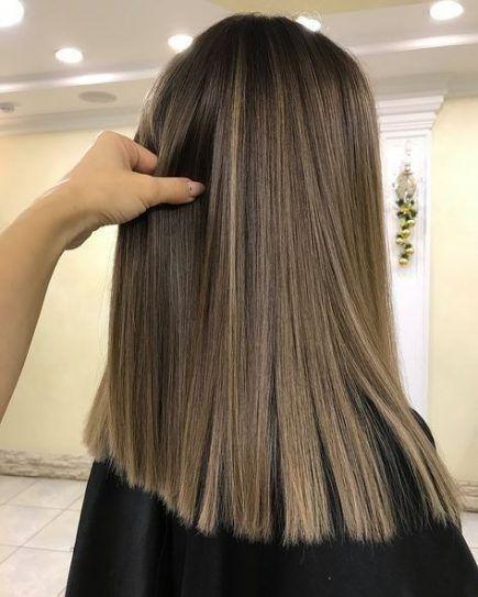 Trendy Hair Ombre Straight Shoulder Length 45 Ideas Haircuts For Wavy Hair Hair Highlights Balayage Hair