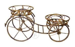 Kwietnik Metalowy Stojak Na Kwiaty Kareta Duza Metal Design Metal Garden Art Garden Ornaments