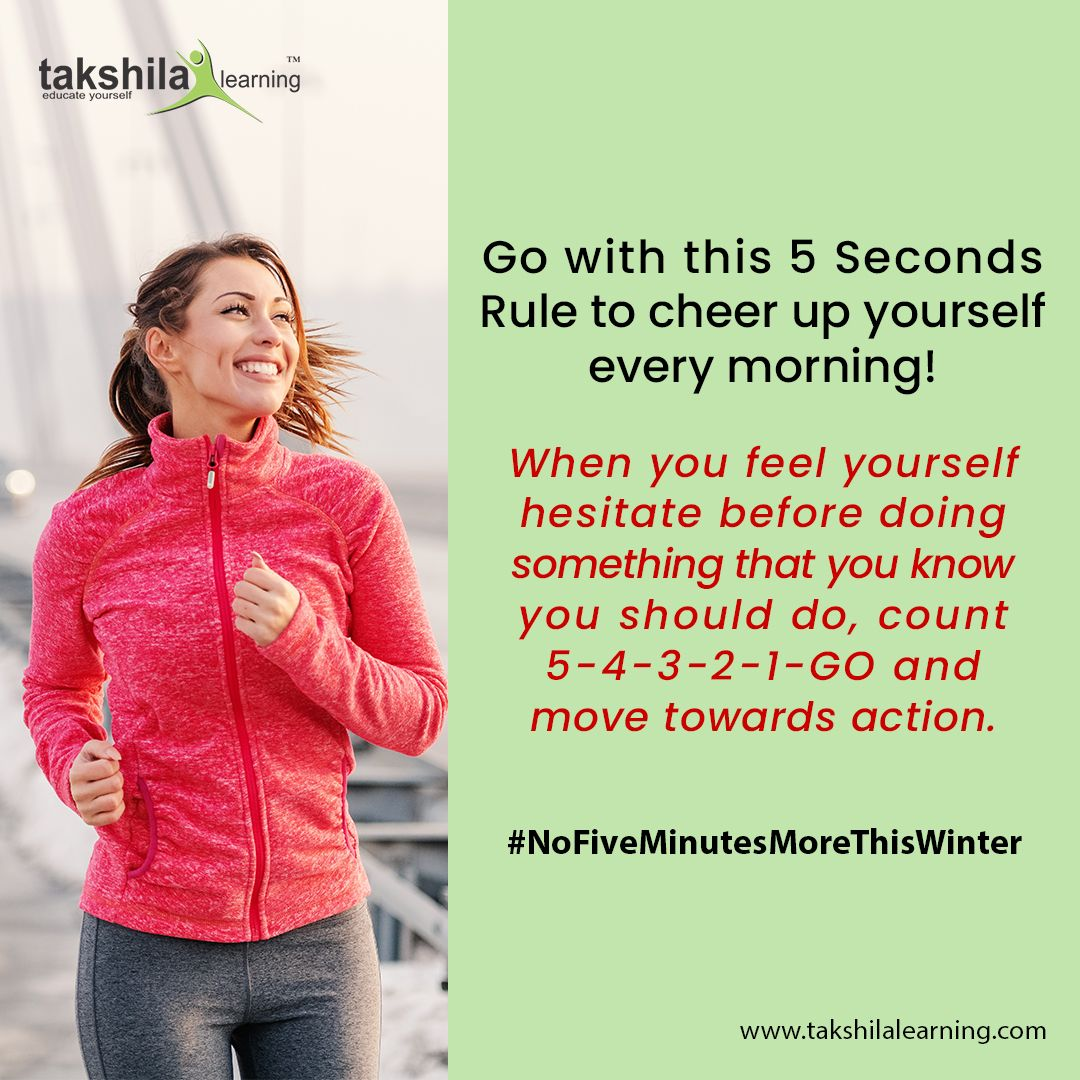 Say NO to Laziness & YES to Your Goals & Dreams this winter. Go with this 5 Seconds Rule to cheer up yourself every morning! #NoFiveMinutesMoreThisWinter #exercise #athomeworkouts #groupworkout #funworkouts #stayingactive #stayactivestayfit #healthychoices #chooseyourhard #crushyourgoals #goalgetter #goaldiggers #buildalegacy #crushyourgoalsnotyoursoul #5secondrule #worksmarter #goalgetters #keystosuccess #letsgetit #goalsetter