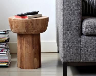 Ethnicraft C Products Occasional Tables Teak Pop Side Table Side Table Wood Ethnicraft Furniture Side Tables