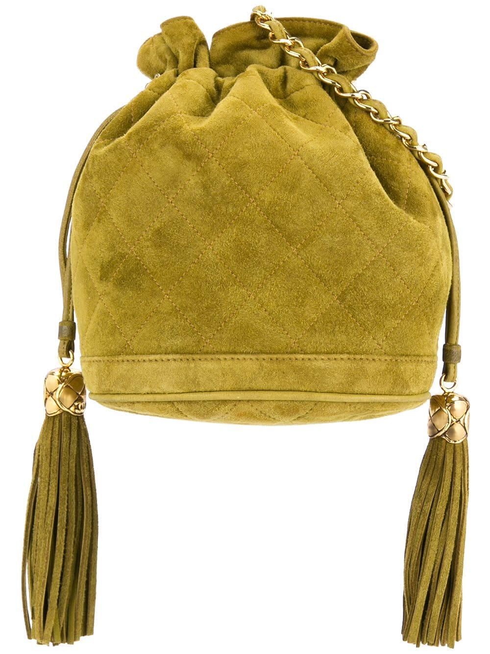 Chanel Pre Owned Fringed Bucket Shoulder Bag Shoulder Bag
