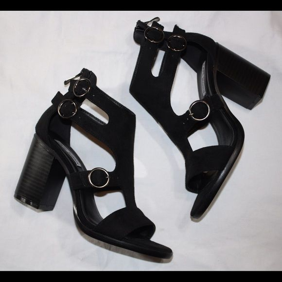 """Black cutout shoes New 3""""heel trades holds ⚠️firm on price unless bundling Shoes Heels"""