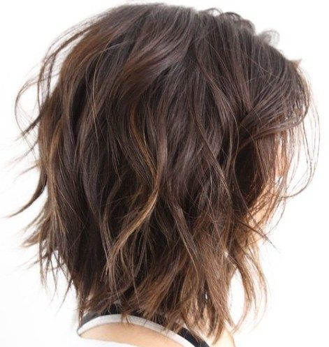Shoulder Length Choppy Wavy Bob