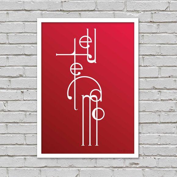 Poster Eu te Amo A4 impresso