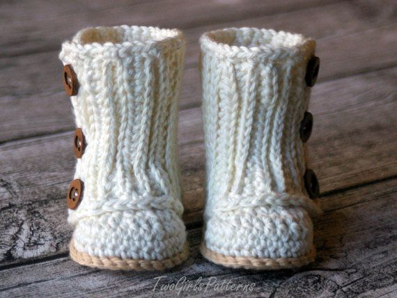 Crochet Pattern #112 Baby Wrap Boot - Instant Download - PDF L ...