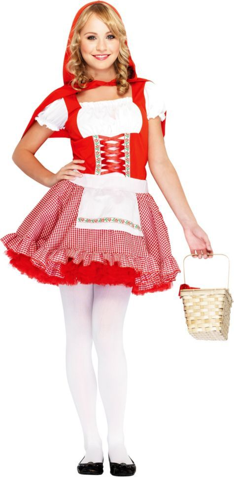 Teen Girls Classic Little Red Riding Hood Costume , Party City