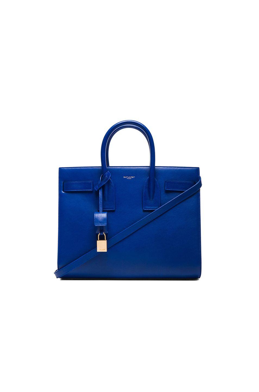 Saint Laurent Small Sac De Jour Carryall Bag in Royal Blue