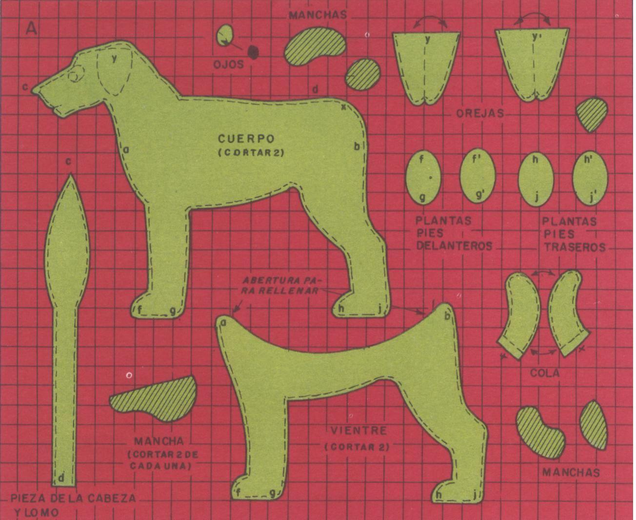 perro moldes :) | Patrones de peluche | Pinterest