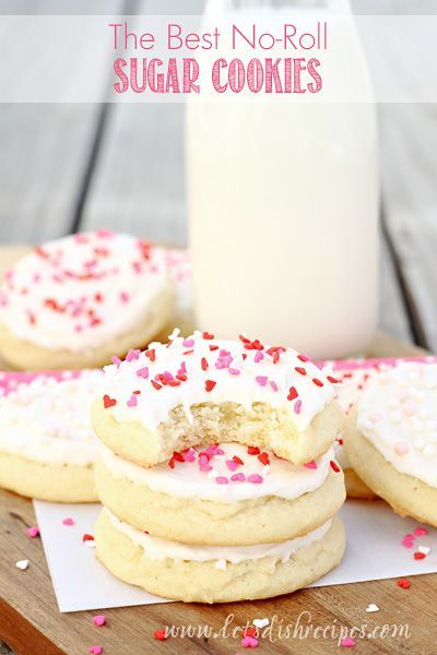 The Best No-Roll Sugar Cookies   These easy sugar cookies are the softest, most delicious you'll every make! #recipe