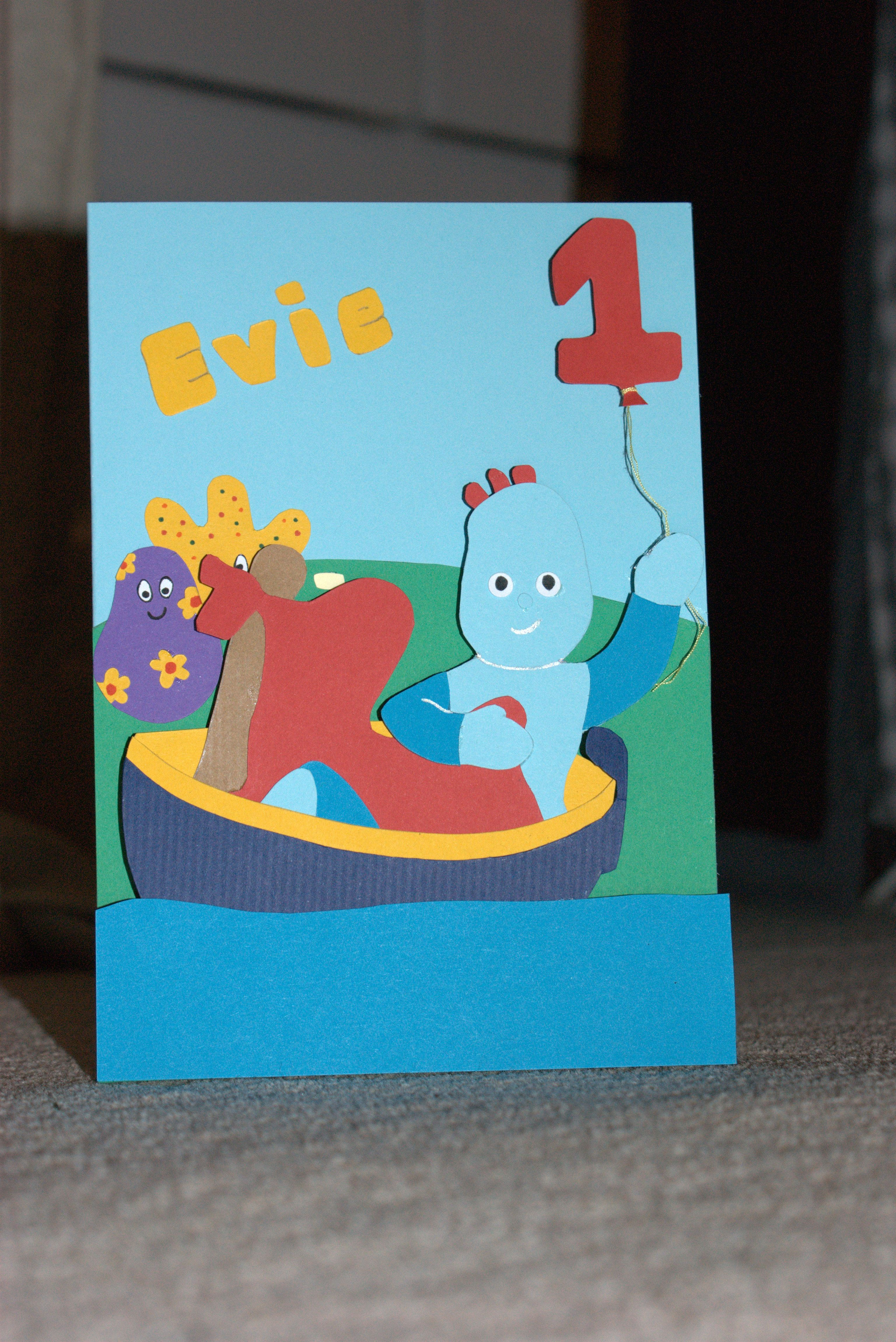 In the night garden card for my nieces 1st birthday handmade first birthday homemade in the night garden birthday card bookmarktalkfo Images