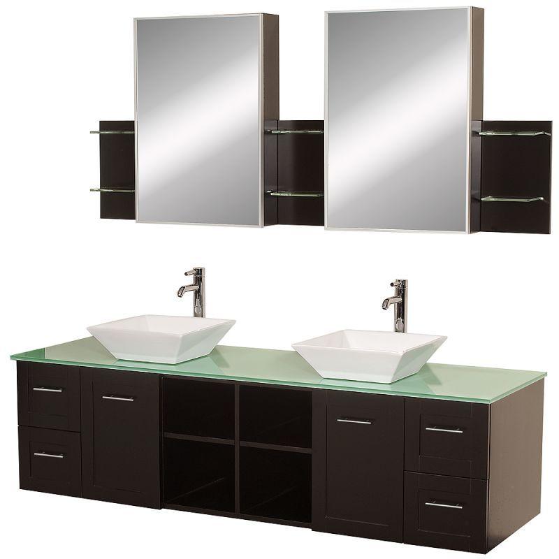 Wyndham Collection Wc Whe007 Sh 72 Oak Bathroom Vanity Bathroom Sink Vanity Glass Vanity