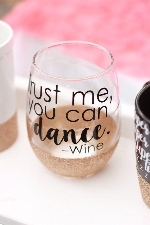 Glitter Dipped Wine Glass